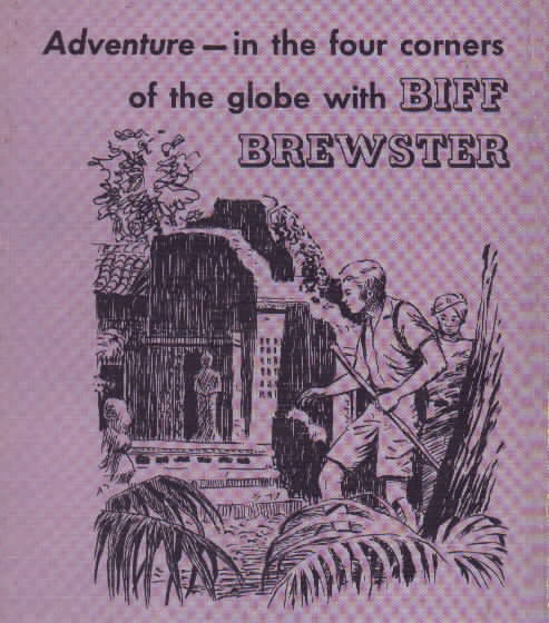 Rear cover of Biff Brewster mystery and adventure book.